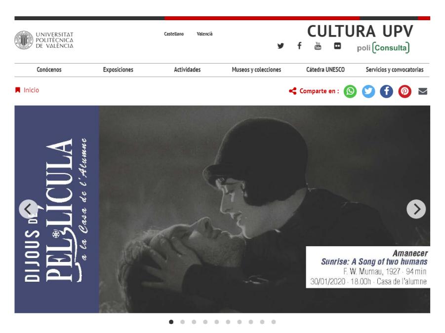 Web Cultura UPV