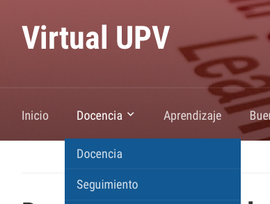Docencia virtual en la UPV