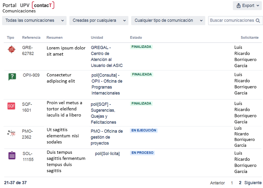 Comunicaciones UPV(contacT)